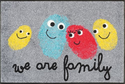 Fußmatte wash+dry by Kleen-Tex HAPPY FAMILY